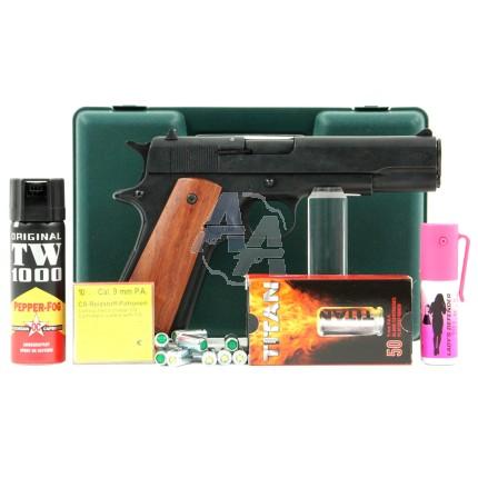 Pistolet Kimar 911 noir pack défense discount