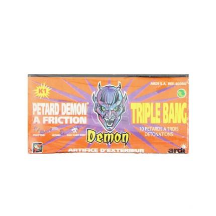 10 pétards à friction Demon Triple Bang