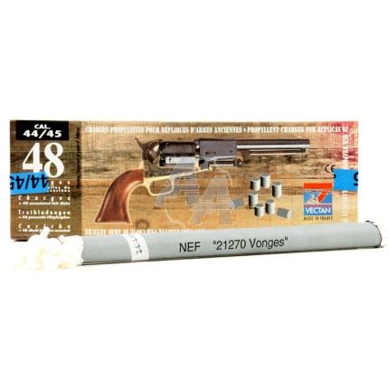 48 Doses de poudre noire précomprimées calibre .44/45