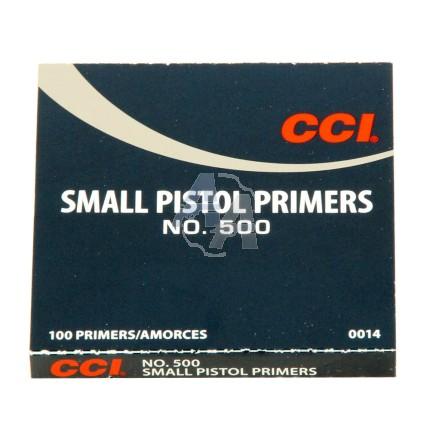 100 amorces CCI Small Pistol N°500