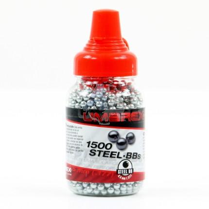 1500 billes d'acier nickelées Umarex, 4.5 mm BB