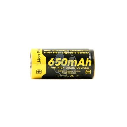 Batterie Nitecore RCR123A, NL166