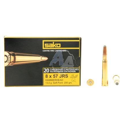 20 munitions Sako Hammerhead, calibre 8x57 JRS