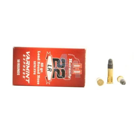 50 munitions Hornady Varmint Express .22 LR 40 gr