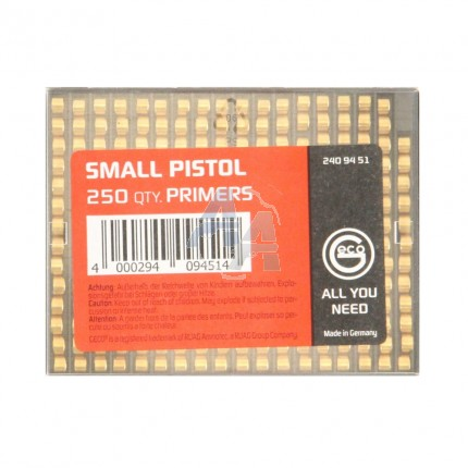 250 amorces Geco Small Pistol