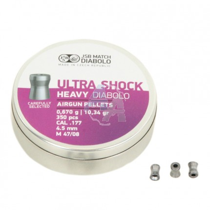 350 plombs JSB Ultra Shock Heavy cal. 4.5 mm