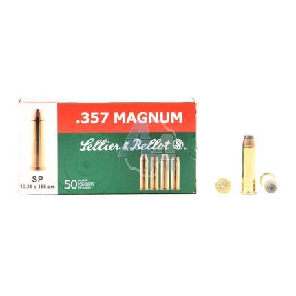 50 Munitions Sellier & Bellot SP, calibre 357 Magnum