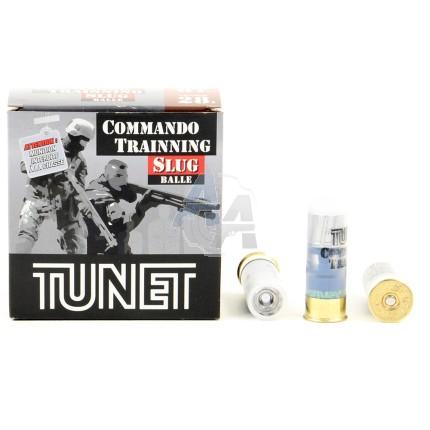 25 munitions Tunet Commando Training Slug, cal 12/67