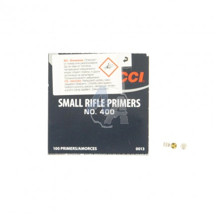 100 amorces CCI Small Rifle N°400