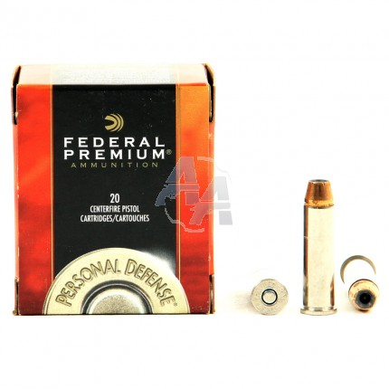 20 munitions Federal Hydra-Shok calibre .357 Mag.