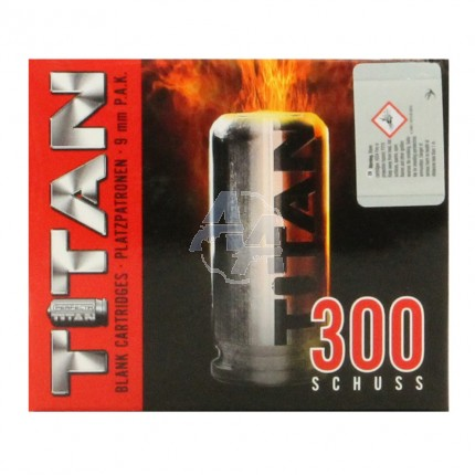 300 munitions à blanc Titan Perfecta calibre 9mm PAK