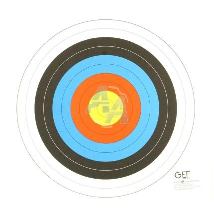 Cible de tir à l'arbalète Field 10 mètres GEF 28x28 cm