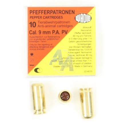 10 munitions PV Extra, calibre 9 mm P.A.