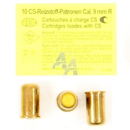 10 munitions CS, calibre .380 / 9mm RK
