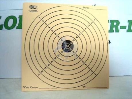 100 cibles en carton, dimensions 150x150 mm