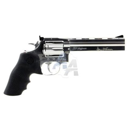 """Revolver Dan Wesson 715 6"""" nickelé, calibre 4.5 mm BB"""