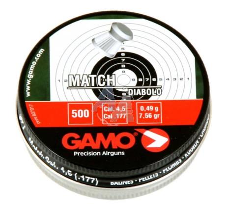 250 plombs Match Gamo, calibre 5.5 mm