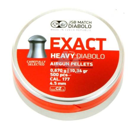 500 plombs JSB Exact Heavy Diabolo, 4.5 mm
