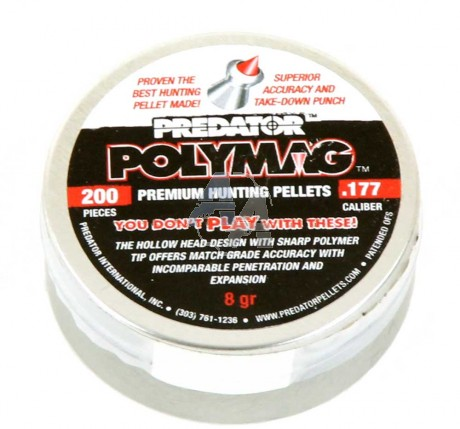 200 plombs JSB Predator polymag, 4.5 mm