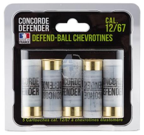 5 cartouches Concorde Defender mini defend-ball 12/67