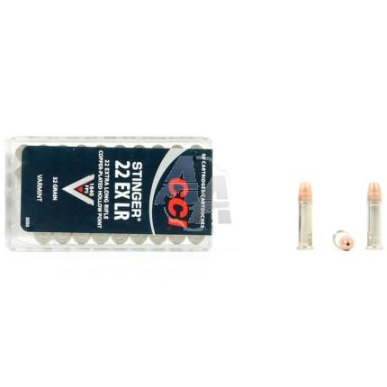 50 munitions CCI Stinger, calibre 22 EX LR