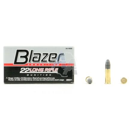 50 Munitions Blazer CCI, calibre 22 LR