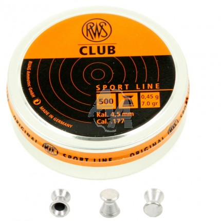 500 plombs RWS Club, calibre 4.5 mm