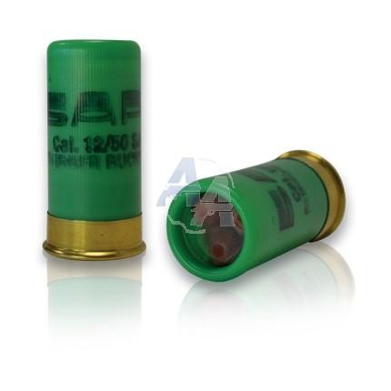 5 cartouches Gomm Cogne chevrotine, calibre 12/50