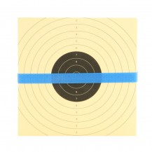100 cibles centre noir dimensions 14x14 cm