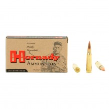 20 munitions Hornady Custom SST 150 gr, cal .308