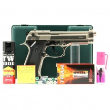 Pistolet Kimar 92 chromé, pack défense discount