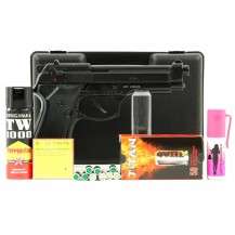 Pistolet Bruni 92 noir, pack défense discount