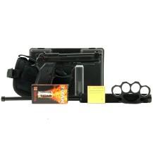 Pistolet Bruni 92 noir, pack punch