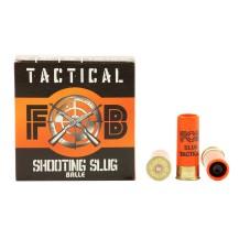 25 Cartouches FOB Tactical Shooting Slugs, cal 12/67