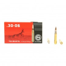 20 munitions Geco Teilmantel 170 grs, cal .30-06 SPRG