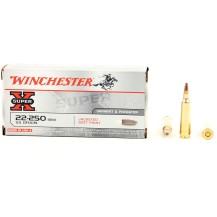 20 munitions Winchester Super X, calibre 22-250 Rem
