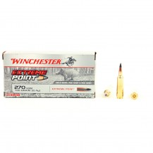 20 munitions Winchester Extreme Point 130 gr .270 WSM