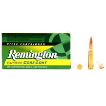 20 munitions Remington Core-Lokt, calibre 7-08