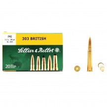 20 munitions Sellier & Bellot FMJ, calibre .303 British