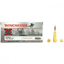 20 munitions Winchester Super X, calibre .270 WSM
