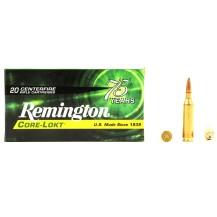 20 munitions Remington Core-Lokt, calibre .243 Win