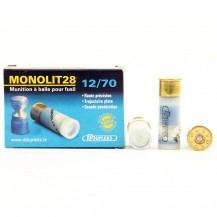 5 munitions DDupleks Monolit 28, calibre 12/70