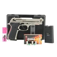 Pistolet Bruni 92 nickelé pack électrique discount