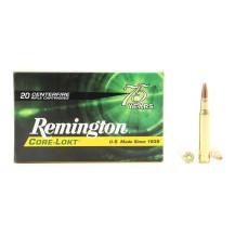 20 munitions Remington Core-Lokt 180 gr, calibre .30-06