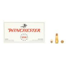 50 munitions Winchester 124 grains, calibre 9x23 mm