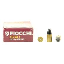 50 munitions Fiocchi, calibre .455 Mk II