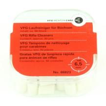 50 Tampons de nettoyage VFG pour baguette, calibre au choix