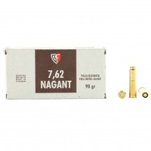 50 munitions Fiocchi, calibre 7.62 Nagant