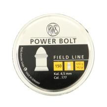 150 plombs RWS Power Bolt 0.92g, calibre 4.5 mm