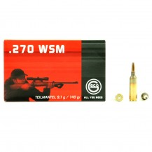 20 munitions Geco Teilmantel, calibre .270 WSM